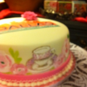tea party cake at The Vintage House