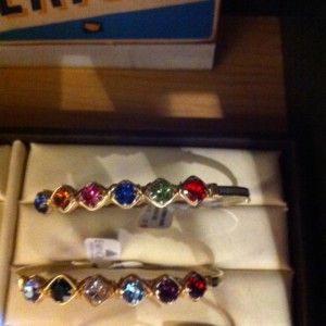 jeweled earth grace bracelets at The Vintage House