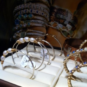 pearl earth grace bracelets at The Vintage House